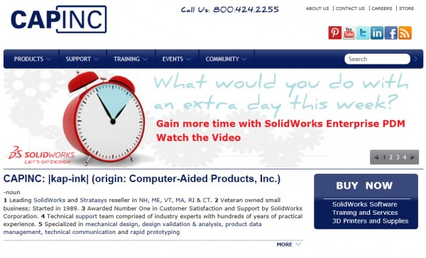 CAPINC Homepage Screen