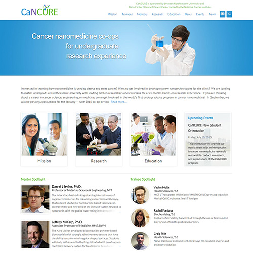 CaNCURE homepage